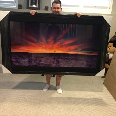 Sky on Fire Framed